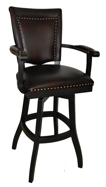 Tobias Designs 401 S Base With Upholstered Arms Barstool