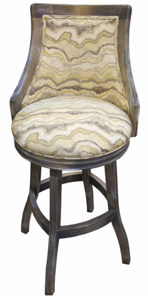 Tobias Designs Bali With Arms S Base Barstool