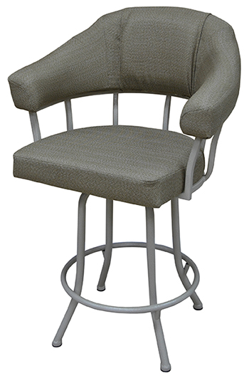 Tobias Designs M 90 With Arms Metal Base Barstool