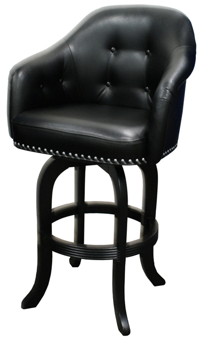 Nailheads Leathers · 1001 - Captainu0027s Chair  sc 1 st  Tobias Designs : wood bar stools with arms - islam-shia.org