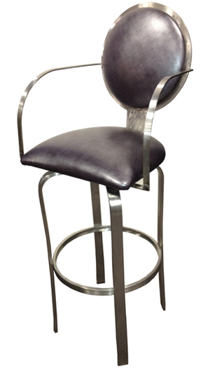 Tobias Designs 521 Swivel Stainless Steel Barstool