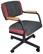 M-111 Caster Chair with Wood Arms