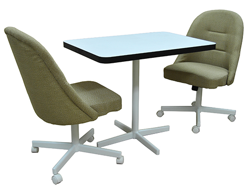 Tobias Designs 2 235 Caster Chairs 26x36 Table