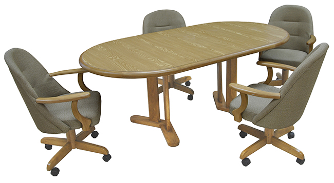 Tobias Designs Dinette 236 Caster Chairs 42x60x78 Table
