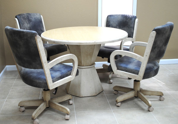 dinette sets chairs with casters. dinette with round table 260 caster chairs sets casters