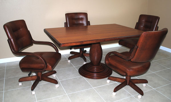 Dinette with 270 High Back Caster Chairs