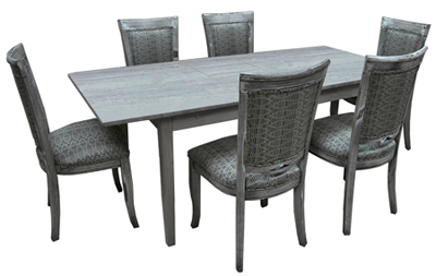 Dinette with Butterfly Rectangle Table 400 Side Chairs