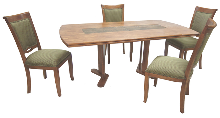 400 Side Chairs 42x72 Wood Table