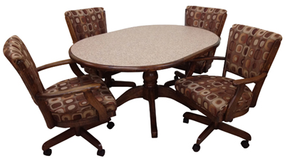 Dinette with 42in Round Table Classic Caster Chairs