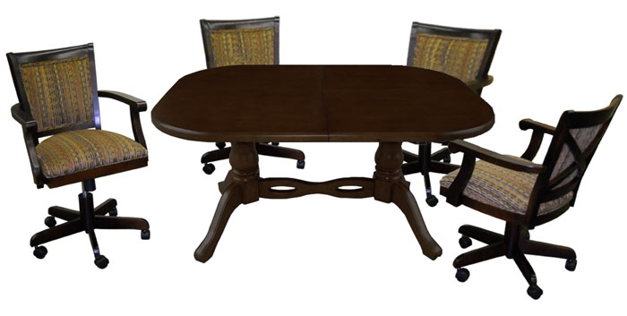 Tobias Designs Dinette 42x60 Table With Mango Chairs