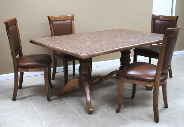 Dinette with 42 x 66 Table 400 Side Chairs