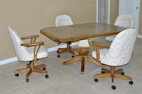 4 w226 Caster Chairs 42x60 Clip Corner Table