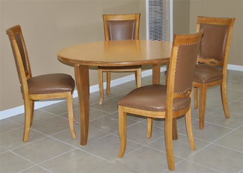 4 - 400 Side Chairs Round Table