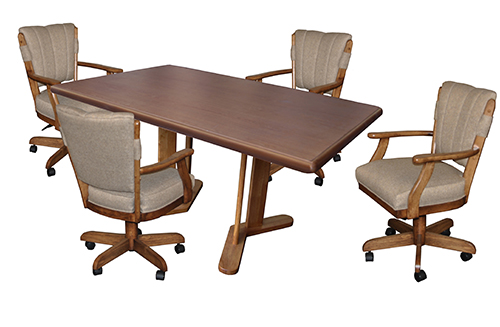 ... Classic Caster Chairs With 42 X 42 X 60 Table