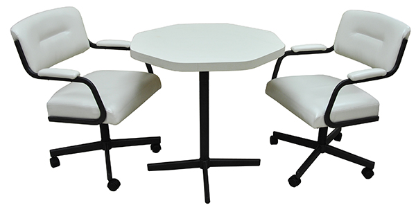 Tobias Designs 2 M110 Caster Chairs Octo Table Dinette