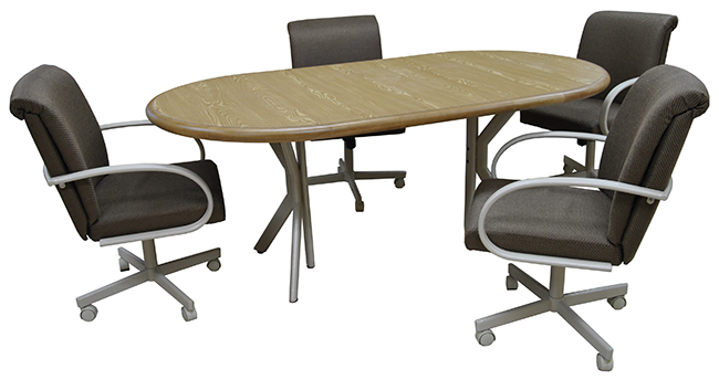 Tobias Designs Dinette M 60 Caster Chairs 42x60x78 Table