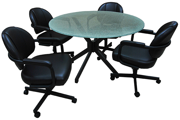 Tobias Designs M 70 Caster Chair 48 Inch Glass