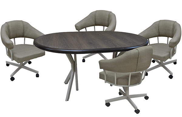 Tobias Designs Dinette M 90 Caster Chairs 42x42x60 Table
