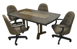 236 Caster Chairs 42x72 Solid Wood Table