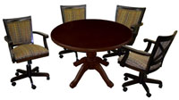 Round Table Mango Chairs