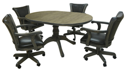 Caribean Caster Chairs 42x42x60 Wood Table