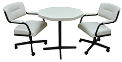 2 m110 Caster Chairs Octo Table