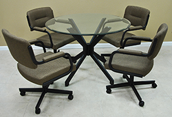 M-110 Caster Chairs 42 Table