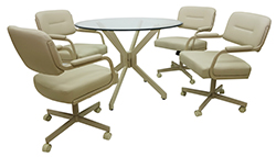 M-110 Caster Chairs 48 Glass Table