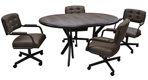 M-112 Caster Chairs 42x42x60 Oval Table