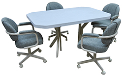 M-70 Caster Chairs 42x60 Mica Table