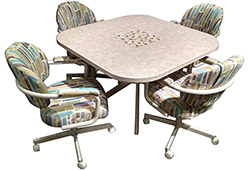 M-70 Caster Chairs Tile Table