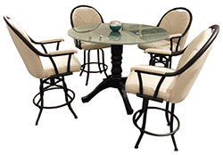 m80 Stools 42inch Crackle Glass Table