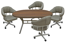 M-90 Caster Chairs 42x42x60 Table Danny