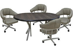M-90 Caster Chairs 42x42x60 Table Richi