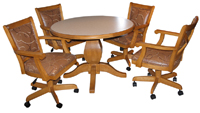 Mango Caster Chairs with Round Table