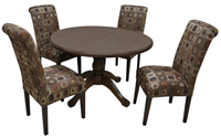 Dinette with Round wood Table Parson Side Chairs