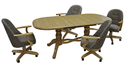 236 Caster Chairs 42x60x75 Table