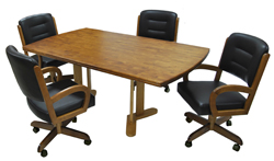 w260 Caster Chairs 42x72 Table
