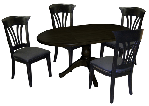 Dinette with 42x42x60 wood Table Wave Side Chairs