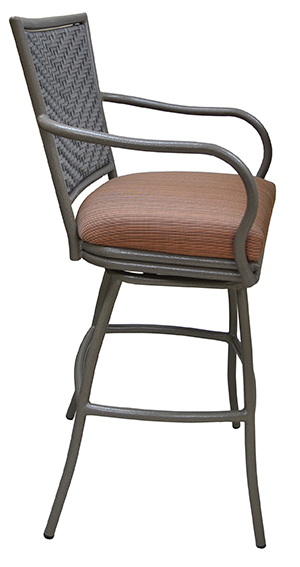 Tobias Designs Outdoor Aluminum Bar Stool Erin With Arms