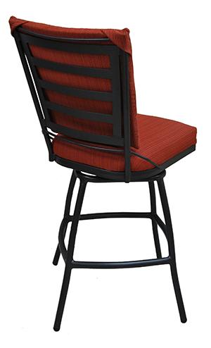 Tobias Designs Outdoor Aluminum Bar Stool Jenna Upholstered