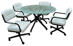 M-110 Caster Chairs 48 Glass