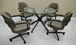 M-70 Caster Chairs 42 Table