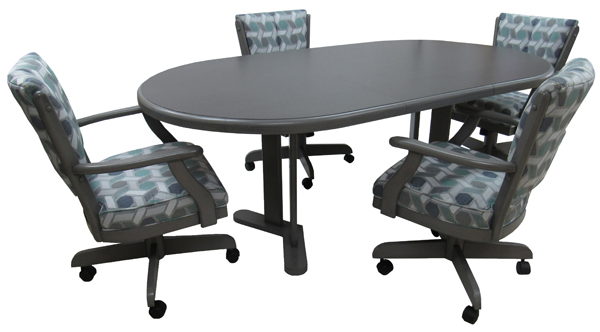 Classic Caster Chairs 42x42x60 Table
