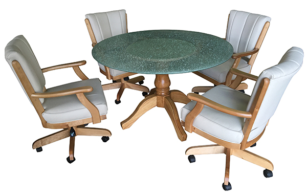 Classic Caster Chairs with 48 Glass