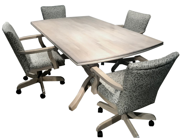 Mango Plus Caster Chairs 36 x 60 Wood Table
