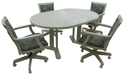 400 Caster Chairs 42x42x60 Wood Table