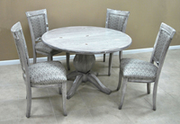 Dinette with Round wood Table 400 Side Chairs