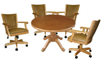 Round Table Mango Full Back Chairs