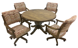 Casa Caster Chairs 48 Wood Table